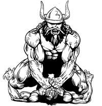 Wrestling Vikings Mascot Decal / Sticker 1