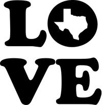 Love Texas Decal / Sticker 01
