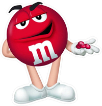 Red M&M Decal / Sticker 48