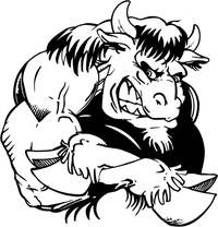 Buffalo Mascot Decal / Sticker