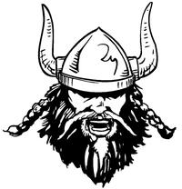 Vikings Mascot Decal / Sticker 2