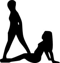 Sexy Girls Silhouette Decal / Sticker 11