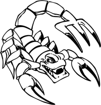 Scorpion Mascot Decal / Sticker