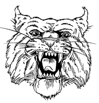 Wildcats Mascot Decal / Sticker 1