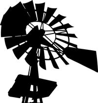 Windmill Decal / Sticker 05