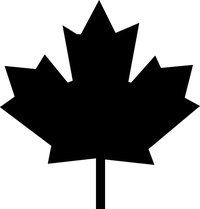 Canada Leaf Decal / Sticker 02