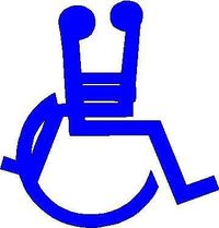 Handicap Facing Decal / Sticker