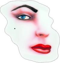Half Face Decal / Sticker