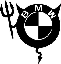 BMW Devil Decal / Sticker