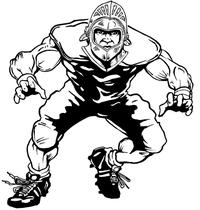 Football Knights Mascot Decal / Sticker 3