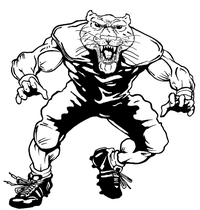 Football Cougars / Panthers Mascot Decal / Sticker 2
