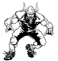 Football Vikings Mascot Decal / Sticker 2