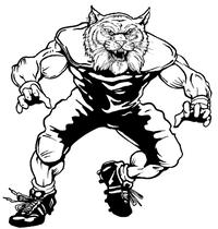 Football Wildcats Mascot Decal / Sticker 2