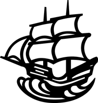 Mayflower Ship Decal / Sticker 01