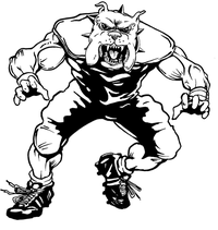 Football Bulldog Mascot Decal / Sticker 03