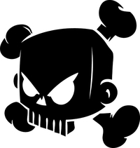Ken Block Skull Decal / Sticker 02
