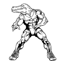 Wrestling Gators Mascot Decal / Sticker 2