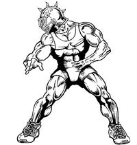 Wrestling Knights Mascot Decal / Sticker 2
