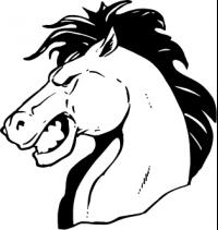 CUSTOM HORSES MASCOT DECALS AND HORSES MASCOT STICKERS