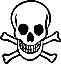 Skull and Cross Bones Decal / Sticker 16