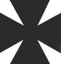 Maltese Cross Decal / Sticker 05