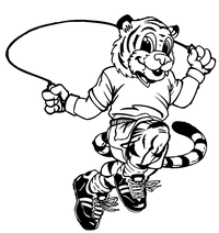 Tiger Jumping Rope Decal / Sticker