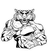 Tigers Track and Field Mascot Decal / Sticker