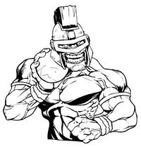 Trojans Track and Field Mascot Decal / Sticker