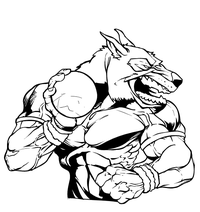 Wolves Track and Field Mascot Decal / Sticker