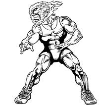 Wrestling Comets Mascot Decal / Sticker 2