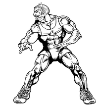 Wrestling Devils Mascot Decal / Sticker 2