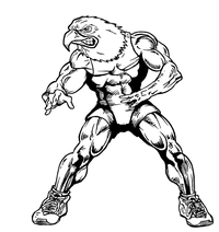 Wrestling Eagles Mascot Decal / Sticker 2