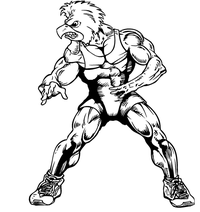 Wrestling Gamecocks Mascot Decal / Sticker 2