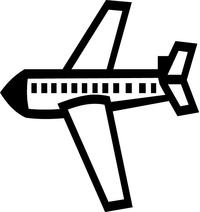 Airplane Decal / Sticker 06