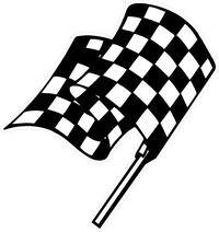 Checkered Flag Decal / Sticker 110
