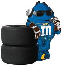 Blue NASCAR M&M Decal / Sticker 54