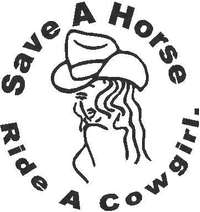 Save a Horse Ride a Cowgirl Decal / Sticker 02