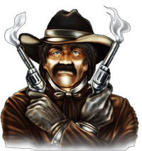 Smoking Guns Cowboy Decal / Sticker