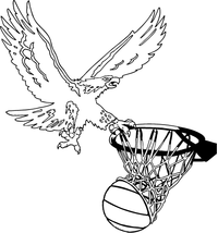 Basketball Eagles Mascot Decal / Sticker