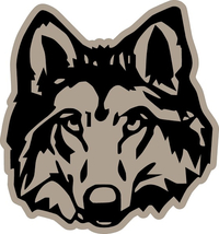 Wolf Decal / Sticker 09