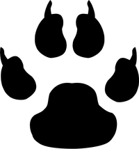 Cat Paw Print Decal / Sticker 03