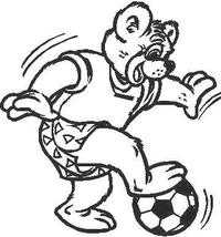 Soccer Bear Decal / Sticker