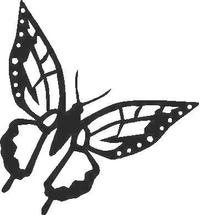Butterfly Decal / Sticker 01
