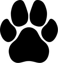 Dog Paw Decal / Sticker 03