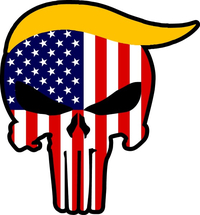 American Flag Donald Trump Punisher Decal / Sticker 134