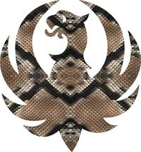 Snakeskin Ruger Decal / Sticker 07