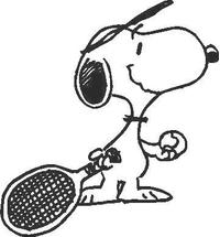 Tennis Snoopy Decal / Sticker 07