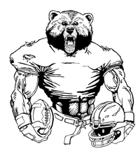 Football Bear Mascot Decal / Sticker 21