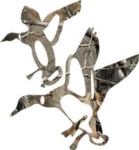 Camo Ducks Hunting Decal / Sticker 14