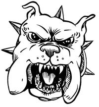 Bulldog Mascot Decal / Sticker 3